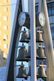 Tyumen Musikalische Uhr mit Bell Russe Sibirien lizenzfreies stockbild