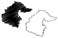 Tyumen Oblast mapy wektor royalty ilustracja