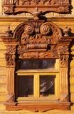 Tyumen okno w starym domu zdjęcia royalty free