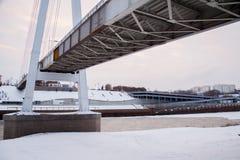 Tyumen Rosja, Listopad, - 05 2016: Zima krajobraz przy zmierzchów wi Obraz Stock