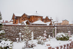 Tyumen Rosja, Listopad, - 06 2016: Zima krajobraz z beautif Zdjęcie Stock