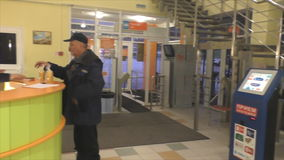 TYUMEN, RUSSIA, January 31.2016, Hall Health Center stock video