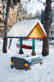 TYUMEN, RUSSIA, JANUARY 31.2016: Playground in a park Stock Photography