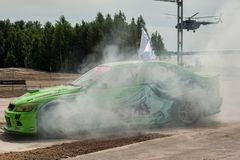Drift on Army Games-2017. Tyumen. Russia Royalty Free Stock Photography