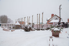 Tyumen, Russia - November 06.2016: Landscape design about a cott Royalty Free Stock Photo