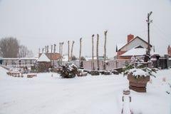 Tyumen, Russie - 6 novembre 2016 : Conception de paysage au sujet d'un cott Photo libre de droits