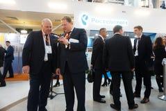 Tyumen Ryssland, 09 07 2016 Forum av innovativa teknologier Kommunikationsforskare, politiker och aff?rsm?n arkivfoto