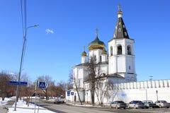 Tyumen ` S Männer der Heiligen Dreifaltigkeit Kloster Russe Sibirien lizenzfreie stockfotografie