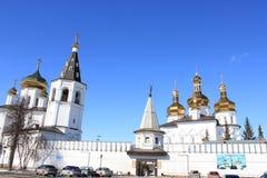 Tyumen ` S Männer der Heiligen Dreifaltigkeit Kloster Russe Sibirien lizenzfreie stockbilder