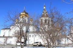 Tyumen ` S Männer der Heiligen Dreifaltigkeit Kloster Russe Sibirien stockbild