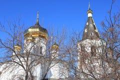 Tyumen ` S Männer der Heiligen Dreifaltigkeit Kloster Russe Sibirien stockbilder