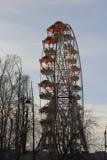 Tyumen stad och ryss Sibirien Soluppgång på nöjesfältet Royaltyfria Bilder