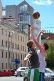 Tyumen. Straßenbasketball Lizenzfreie Stockfotografie