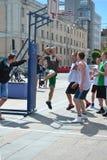 Tyumen. Straßenbasketball Lizenzfreies Stockfoto
