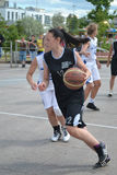 Tyumen. Straßenbasketball Stockfotografie