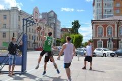 Tyumen. Street basketball Stock Photo