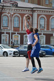 Tyumen. Street basketball Stock Images