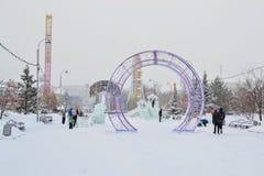 Tyumen Tsvetnoy boulevard Royaltyfri Fotografi