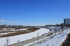 Tyumen Tura Riverside Zentraler Bezirk von Tyumen lizenzfreies stockfoto