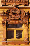 Tyumen window in an old house Royalty Free Stock Photos