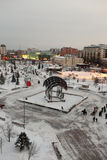 Tyumen in winter Royalty Free Stock Images