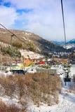 TZAHKADZOR, ARMENIA - 3 GENNAIO 2014: Vista sulla località di soggiorno popolare di clima e dello sci ; Un nord-est individuato d Immagini Stock Libere da Diritti