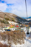 TZAHKADZOR,ARMENIA - JANUARY 3, 2014: View on popular ski and climate resort.; Located 50 km north-east of Yerevan and 5 km from d Royalty Free Stock Images