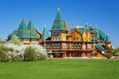 tzar trä för alekseymikhailovichmoscow slott Arkivbilder