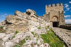 Tzarevetz fästning, Veliko Tarnovo, Bulgarien Arkivfoton
