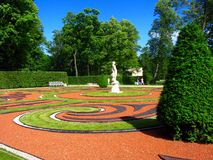 Tzarskoe Selo Palace Park Stock Photography
