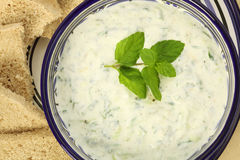 Tzatziki from above Royalty Free Stock Images