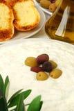 Tzatziki con il pane di aglio Fotografie Stock Libere da Diritti