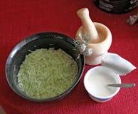 Tzatziki ingedients. Yoghurt and cucumber Stock Photo