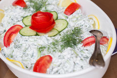 Tzatziki salad Stock Images