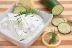 Tzatziki sauce Stock Photography