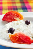 Tzatziki sauce served with olives Royalty Free Stock Photo