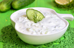 Tzatziki,traditional greek sauce. Stock Photos