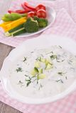 Tzatziki and vegetables Royalty Free Stock Photography