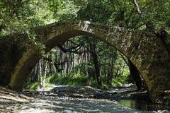Tzelefos venetians Brücke in Trodos, Zypern Lizenzfreies Stockfoto