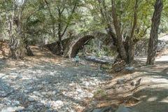 Tzelefos Venetians Bridge. Famous tzelefos venetians stone Bridge in Trodos mountains, Cyprus.  National Park in Cyprus. Eurpe Stock Photos