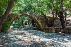 Tzelefos Venetians Bridge in Trodos, Cyprus. Famous tzelefos venetians stone Bridge in Trodos mountains, Cyprus Stock Photos