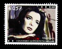 Tzeni Karezi (1932-1992), teater- och bioserie, circa 2009 Royaltyfria Foton