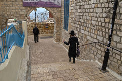 Tzfat streets Stock Photos