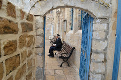 Tzfat streets Royalty Free Stock Photos