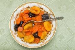 Tzimmes, tsimmes, потушило сладостные морковей с сухофруктом Стоковая Фотография RF