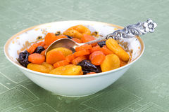 Tzimmes, Tsimmes, Stewed Sweet Carrots With Dried Fruit Royalty Free Stock Photos