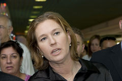 Tzipi Livni Royalty Free Stock Photo