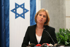 Tzipi Livni at Conference Royalty Free Stock Photos