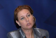 Tzipi Livni minister spraw zagranicznych W DANI Zdjęcie Stock
