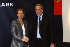 Tzipi Livni & Per Stig Moeller Fotografia Stock
